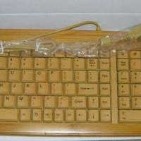 Large picture bamboo keyboard and mouse combo