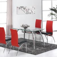 Large picture metal and glass dining sets