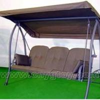 Large picture three-seat soft swing with awning