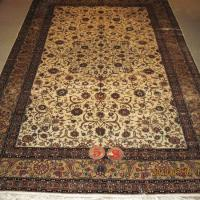 Large picture Persian silk carpet and rug