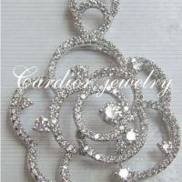 Large picture Cardior Jewelry - 18k white gold diamond pendant