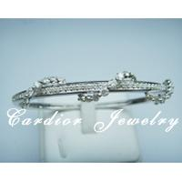 Large picture Cardior Jewelry - 18k white gold diamond bangle