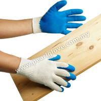 Large picture Cotton Glove Coated with Natural Rubber