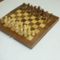 Large picture wooden chess board set