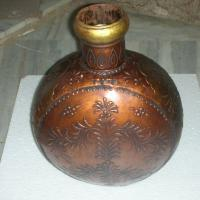 Large picture Iron painted vase