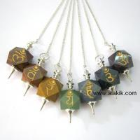 Large picture Wholesale Engraved Reiki Healing pendulum  Sets