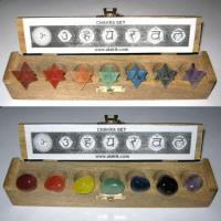 Large picture Chakra Merkaba Set & Chakra Tumble Set with box