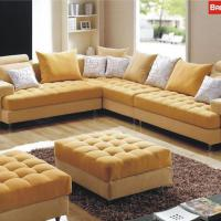 Large picture fabric sofa