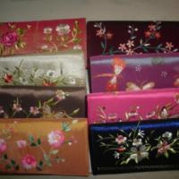 Large picture Taffeta wallet with hand embroidery