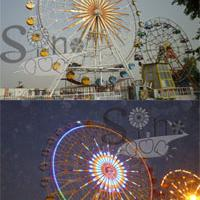 Large picture amusement park rides