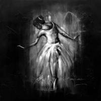 Large picture black and white human body oil painting