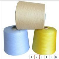 Large picture polyester spun yarn