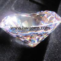 Large picture cubic zirconia synthetic gemstone