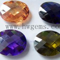 Large picture Checkerboard cut synthetic gemstones wholesale