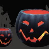 Large picture led Halloween candle