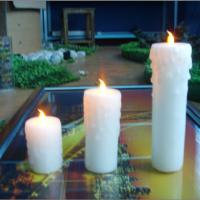 Large picture artificial candle
