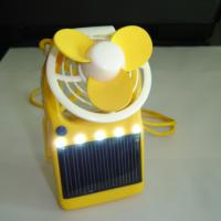 Large picture Solar Power Fan with LED Light