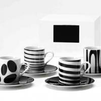 Large picture porcelain coffee cup set,various patterns,shapes