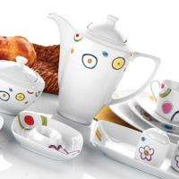 Large picture ceramic tea set with various patterns,shapes