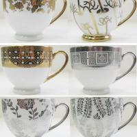 Large picture electroplating tea cup set