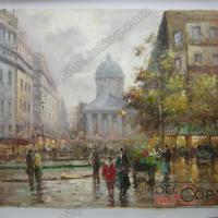Large picture Paris street oil painting