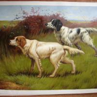 Large picture animal oil painting