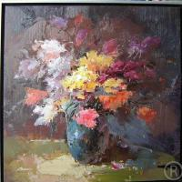 Large picture flower oil painting