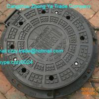 Large picture ductile iron manhole cover supplier