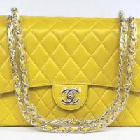 Large picture Chanel Classic Flap Shoulder Bag 1113 Yellow