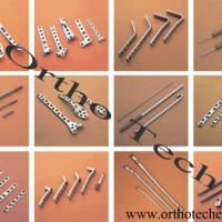 Large picture orthopedic implant, surgical instruments