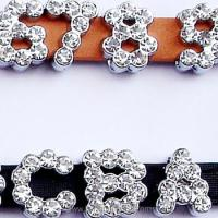 Large picture rhinestone slider letter,slider charms,dog charms