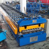 Large picture Colored roof panel forming machine