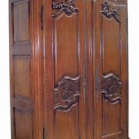 Large picture Mahogany Bonnet Armoire