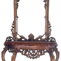Large picture Mahogany Console Table with Mirror 03
