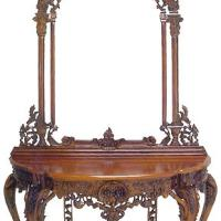 Large picture Mahogany Console Table with Mirror 04