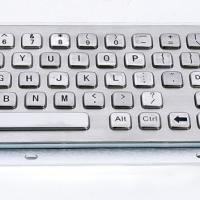Large picture 66 keys metal keyboard with trackball