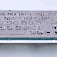 Large picture 66 keys metal keyboard with trackball Flat key