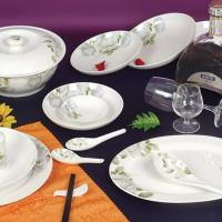 Large picture porcelain dinnerware