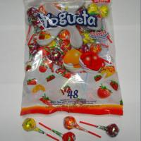 Large picture Bubble gum lollipop(Two Flavors mixed in one pcs )