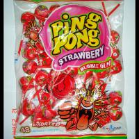 Large picture Bubble gum lollipop(strawberry)
