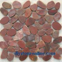 Large picture sliced pebble tile