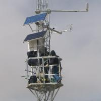 Large picture solar panel tower