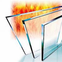 Large picture fire resistant glass