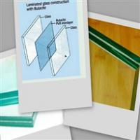 Large picture fire resistant laminated glass