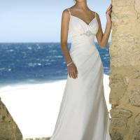 Large picture Beach wedding gown in satin