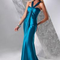Large picture Elegant sweetheart-neckline evening dress in Satin
