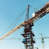 Large picture tower crane, construction hoist