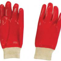 Large picture Red safety pvc work glove