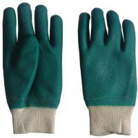 Large picture green knit wrist pvc work glove