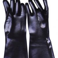 Large picture black smooch finsh pvc work glove